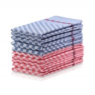 KIT LOUIE CHECKERED RED&NAVY 10PACK