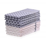 KIT LOUIE CHECKERED CREAM&CHARCOAL 10PACK