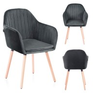 CHAIR HOM LACELLE CHARCOAL
