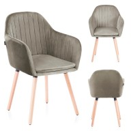CHAIR HOM LACELLE SILVER