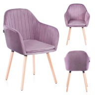CHAIR HOM LACELLE POWDERPINK