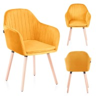 CHAIR HOM LACELLE MUSTARD