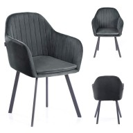 CHAIR HOM TRENTO CHARCOAL