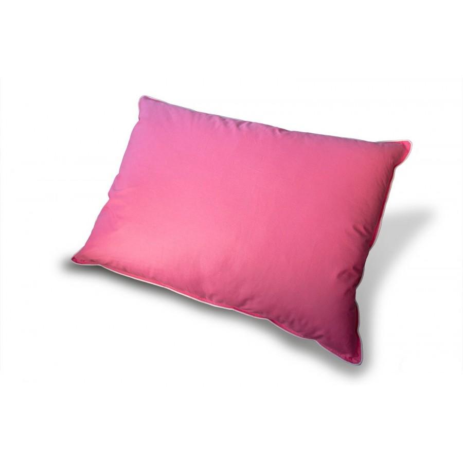 Poduszka Standard puch i pierze 40x40 niska różowa